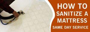 How to Sanitize a Mattress